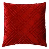 Sarah Pintuck Square Decorative Pillow in Red