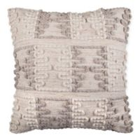 Hourglass Square Throw Pillow in Cream