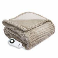 Therapedic® Faux Fur Electric Throw Blanket in Taupe