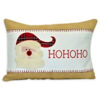 HOHOHO Santa Rectangular Decorative Pillow in Red