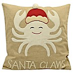 Santa Claws Square Throw Pillow in Natural