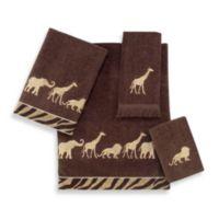 Avanti Animal Parade Bath Towel in Mocha