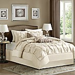 Madison Park Laurel 7-Piece Queen Comforter Set in Ivory