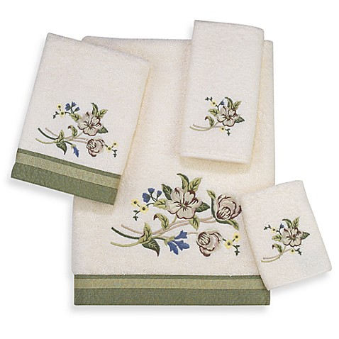 Avanti Premier Nature's Garden Washcloth in Ivory