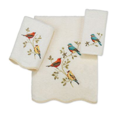 avanti premier songbirds hand towel in ivory - Decorative Hand Towels