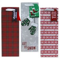 3-Pack Wine Christmas Gift Bags