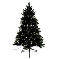 Spruce 4.5-Foot Pre-Lit Christmas Tree with Memory Wire Branches