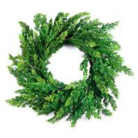 Pearl 26-Inch Artificial Cedar Wreath