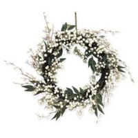 Creative Design 24-Inch Frosted White Berry Wreath