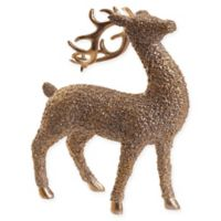 11.3-Inch Reindeer Holiday Decoration in Gold