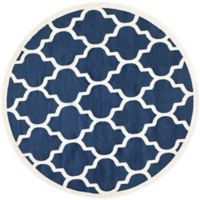 Safavieh Amherst 7-Foot x 7-Foot Whirl Area Rug in Navy