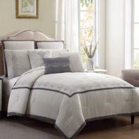 Lori 8-Piece Queen Comforter Set in Grey