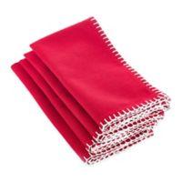 Saro Lifestyle Celena Napkins in Red (Set of 4)