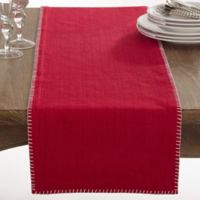 Saro Lifestyle Celena 72-Inch Table Runner in Red