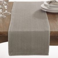 Saro Lifestyle Celena 72-Inch Table Runner in Grey