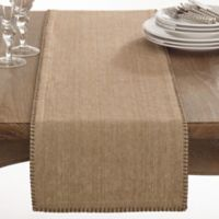 Saro Lifestyle Celena 72-Inch Table Runner in Natural