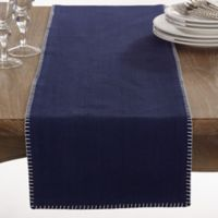 Saro Lifestyle Celena 72-Inch Table Runner in Navy Blue
