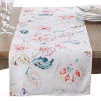 Saro Lifestyle Primavera 72-Inch Table Runner in White