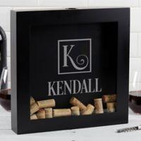 Square Monogram Wine Cork Shadowbox