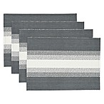 Ombre Stripe Placemats in Grey (Set of 4)