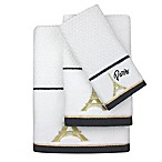 Colordrift Paris Dobby Bath Towel in White/Gold