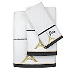 Colordrift Paris Dobby Hand Towel in White/Gold