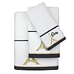 Colordrift Paris Dobby Fingertip Towel in White/Gold