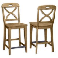 Panama Jack® Solid Wood Construction Bar Stool in Sand (Set of 2)
