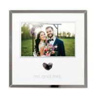 "Pearhead® ""Mr. and Mrs."" 4-Inch x 6-Inch Thumbprint Picture Frame Kit in Grey"