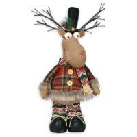 Plush Light-Up Moose Holiday Decoration