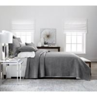 Real Simple® Dune Chambray Reversible Full/Queen Coverlet in Charcoal