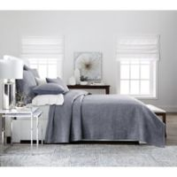 Real Simple® Dune Chambray Reversible King Coverlet in Blue