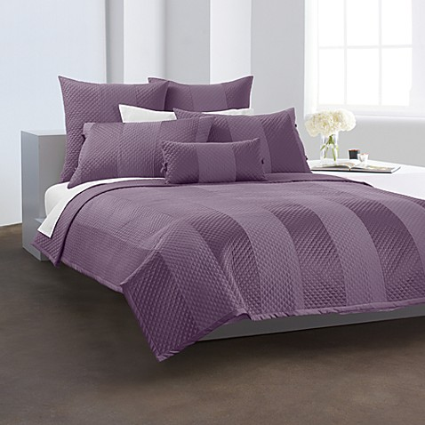DKNY Harmony Quilted Standard Sham in Plum