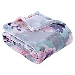 Berkshire Blanket® Ultra VelvetLoft® Printed Throw Blanket in Grey Floral