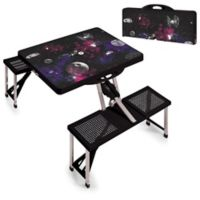 Picnic Time® Star Wars™ Death Star Picnic Folding Table with Seats in Black
