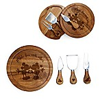 Picnic Time® Disney Mickey & Minnie Acacia Brie Cheese Board & Tools