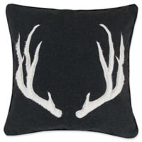 Levtex Home Cayden Antler Square Throw Pillow in Grey