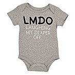 "Baby Starters® Size 3M ""LMDO Laughing My Diaper Off"" Bodysuit in Grey"