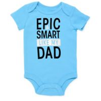 Baby Starters® Size 6M Epic Dad Short Sleeve Bodysuit in Blue