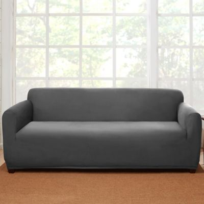 buy gray sofa slipcover from bed bath beyond
