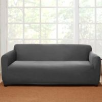 Sure Fit® Stretch Suede Sofa Slipcover in Grey
