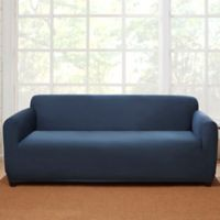 Sure Fit® Stretch Suede Sofa Slipcover in Blue
