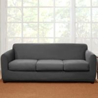 Sure Fit® 4-Piece Stretch Suede Sofa Slipcover in Grey