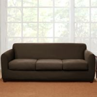 Sure Fit® 4-Piece Stretch Suede Sofa Slipcover in Chocolate