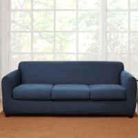 Sure Fit® 4-Piece Stretch Suede Sofa Slipcover in Blue
