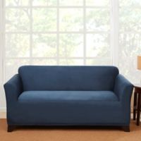 Sure Fit® Stretch Suede Loveseat Slipcover in Blue