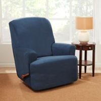 Sure Fit® Stretch Suede Recliner Slipcover in Blue