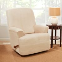 Sure Fit® Stretch Suede Recliner Slipcover in Cement
