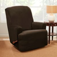 Sure Fit® Stretch Suede Recliner Slipcover in Chocolate