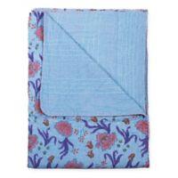 Taj Hotel Kantha Oversized Throw Blanket in Blue/Purple